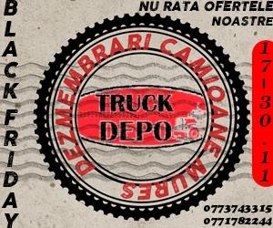 dezmembrari camion Black Friday la Truck Depo