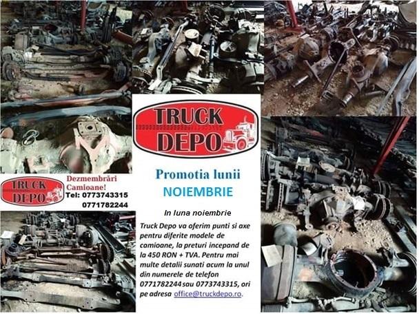 dezmembrari camion PROMOTIA LUNII NOIEMBRIE 2018