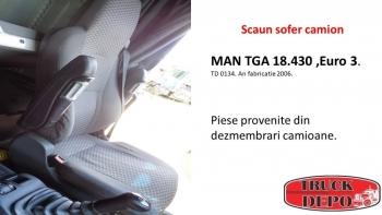 dezmembrari camioane Scaun sofer camion MAN TGA 18.430. Euro 3