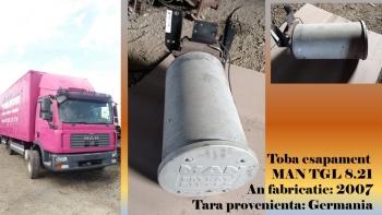 dezmembrari camion Toba esapament MAN TGL 8.21