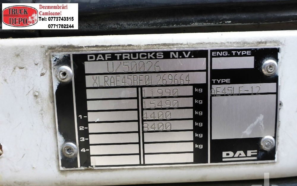 dezmembrari camion De vanzare DAF LF45.150!